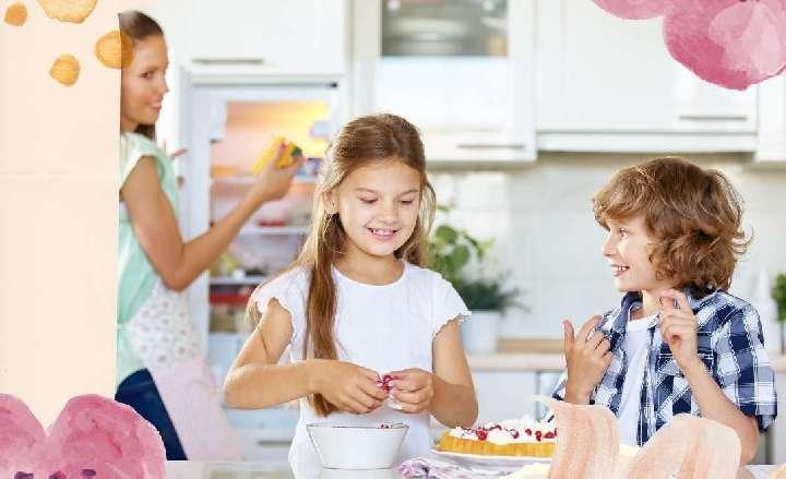 anya gyerekek, otthon sütés
