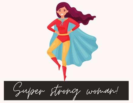 super strong woman