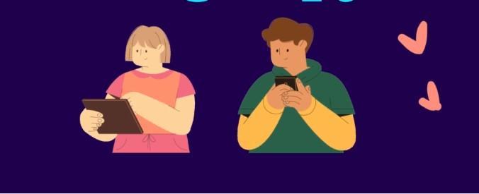 tabletező, telefonozó túlsúlyos gyerekek rajz