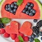 egszészsége étel, gyümölcstál